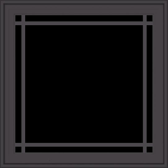 WDMA 32x32 (31.5 x 31.5 inch) Pine Wood Dark Grey Aluminum Crank out Casement Window with Prairie Grilles