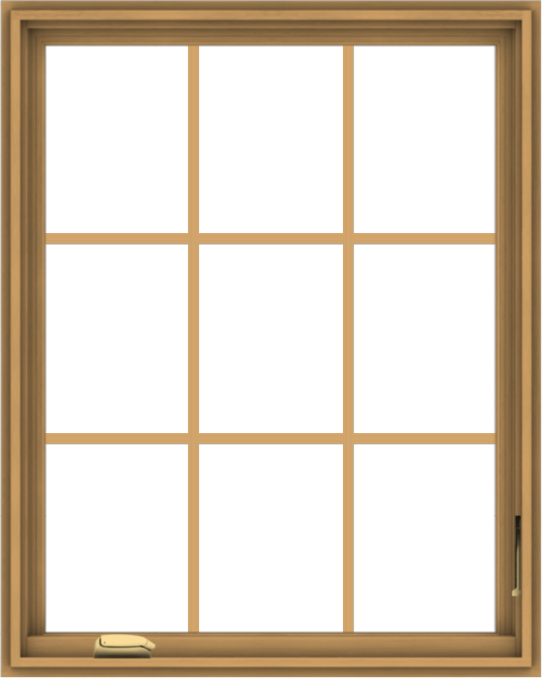 WDMA 32x40 (31.5 x 39.5 inch) Pine Wood Dark Grey Aluminum Crank out Casement Window without Grids