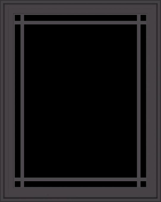 WDMA 32x40 (31.5 x 39.5 inch) Pine Wood Dark Grey Aluminum Crank out Casement Window with Prairie Grilles
