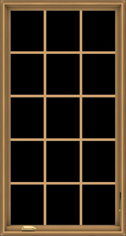 WDMA 32x60 (31.5 x 59.5 inch) Pine Wood Dark Grey Aluminum Crank out Casement Window without Grids