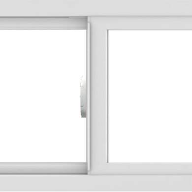 WDMA 36x18 (35.5 x 17.5 inch) Vinyl uPVC White Slide Window without Grids Interior