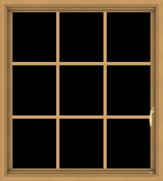 WDMA 36x40 (35.5 x 39.5 inch) Pine Wood Light Grey Aluminum Push out Casement Window without Grids