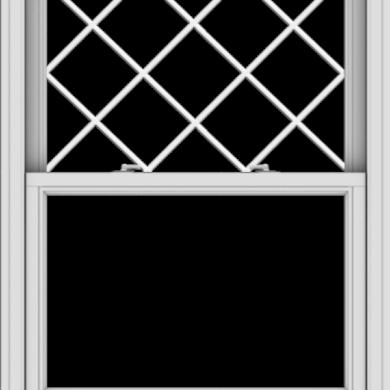 WDMA 36x48 (35.5 x 47.5 inch)  Aluminum Single Double Hung Window with Diamond Grids