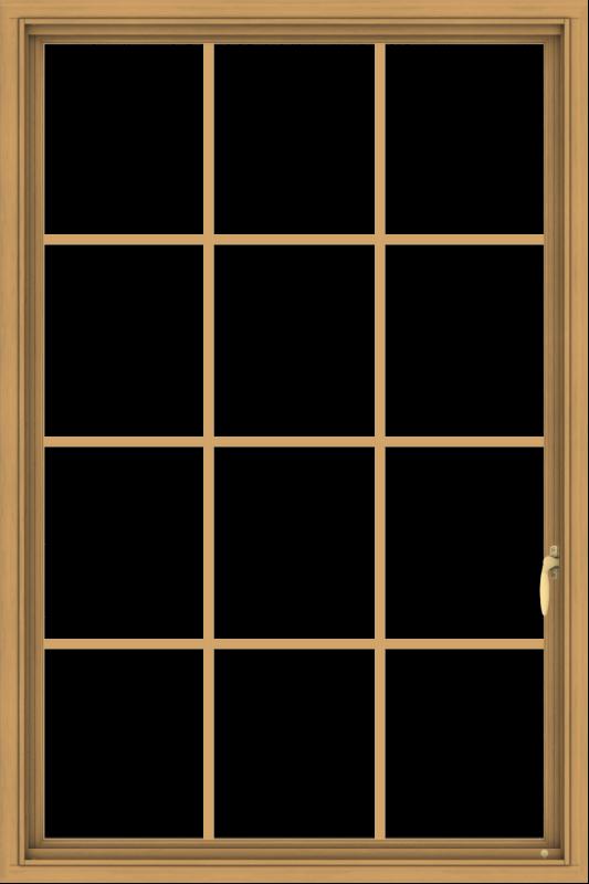 WDMA 36x54 (35.5 x 53.5 inch) Pine Wood Light Grey Aluminum Push out Casement Window without Grids