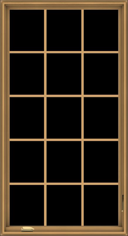 WDMA 36x66 (35.5 x 65.5 inch) Pine Wood Dark Grey Aluminum Crank out Casement Window without Grids