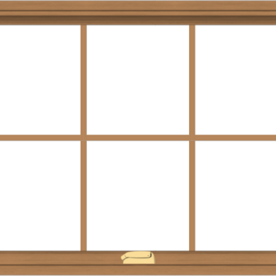 WDMA 40x30 (39.5 x 29.5 inch) Oak Wood Dark Brown Bronze Aluminum Crank out Awning Window with Colonial Grids Interior