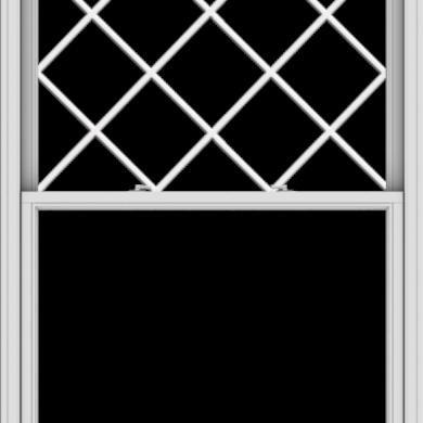 WDMA 48x66 (47.5 x 65.5 inch)  Aluminum Single Double Hung Window with Diamond Grids