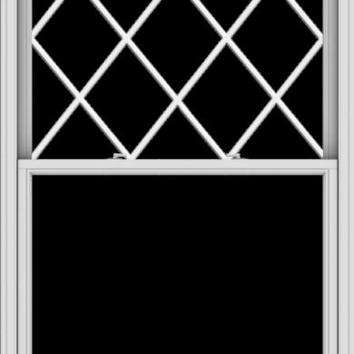 WDMA 48x78 (47.5 x 77.5 inch)  Aluminum Single Double Hung Window with Diamond Grids