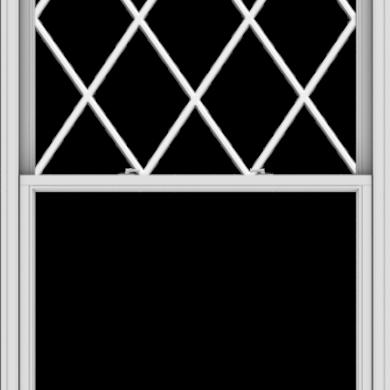 WDMA 48x90 (47.5 x 89.5 inch)  Aluminum Single Double Hung Window with Diamond Grids