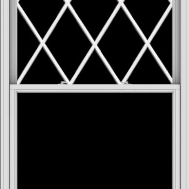 WDMA 48x96 (47.5 x 95.5 inch)  Aluminum Single Double Hung Window with Diamond Grids