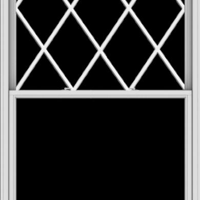WDMA 54x102 (53.5 x 101.5 inch)  Aluminum Single Double Hung Window with Diamond Grids