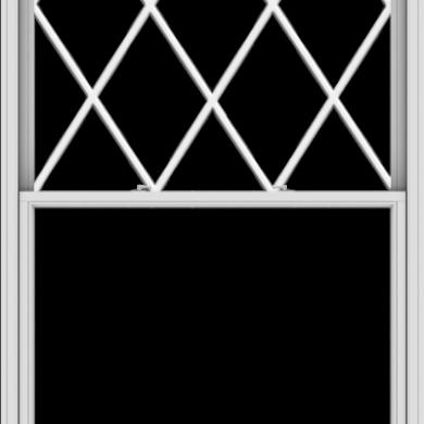 WDMA 54x108 (53.5 x 107.5 inch)  Aluminum Single Double Hung Window with Diamond Grids
