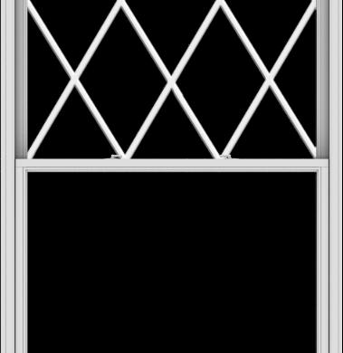 WDMA 54x114 (53.5 x 113.5 inch)  Aluminum Single Double Hung Window with Diamond Grids