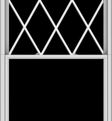 WDMA 54x120 (53.5 x 119.5 inch)  Aluminum Single Double Hung Window with Diamond Grids