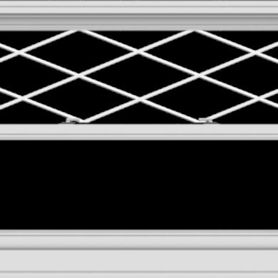 WDMA 54x36 (53.5 x 35.5 inch)  Aluminum Single Double Hung Window with Diamond Grids