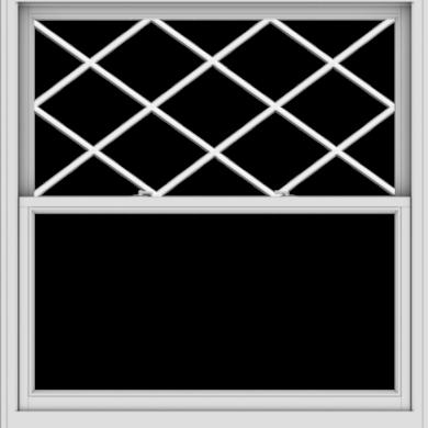 WDMA 54x57 (53.5 x 56.5 inch)  Aluminum Single Double Hung Window with Diamond Grids