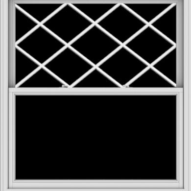 WDMA 54x60 (53.5 x 59.5 inch)  Aluminum Single Double Hung Window with Diamond Grids