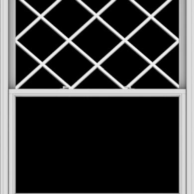 WDMA 54x66 (53.5 x 65.5 inch)  Aluminum Single Double Hung Window with Diamond Grids