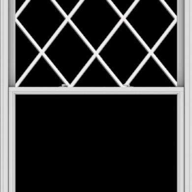 WDMA 54x90 (53.5 x 89.5 inch)  Aluminum Single Double Hung Window with Diamond Grids