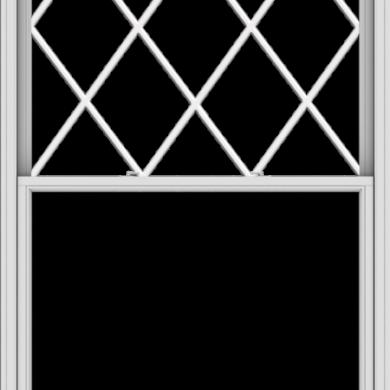 WDMA 54x96 (53.5 x 95.5 inch)  Aluminum Single Double Hung Window with Diamond Grids