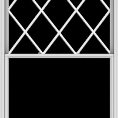 WDMA 60x102 (59.5 x 101.5 inch)  Aluminum Single Double Hung Window with Diamond Grids