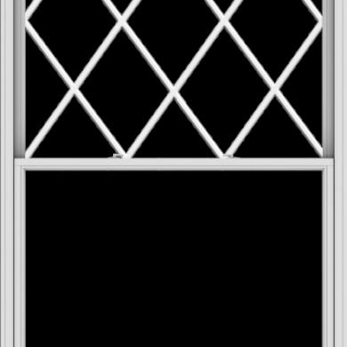 WDMA 60x108 (59.5 x 107.5 inch)  Aluminum Single Double Hung Window with Diamond Grids