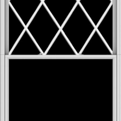 WDMA 60x120 (59.5 x 119.5 inch)  Aluminum Single Double Hung Window with Diamond Grids