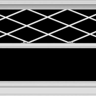 WDMA 60x40 (59.5 x 39.5 inch)  Aluminum Single Double Hung Window with Diamond Grids