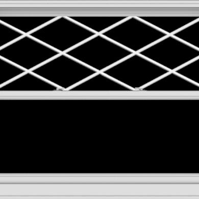 WDMA 60x48 (59.5 x 47.5 inch)  Aluminum Single Double Hung Window with Diamond Grids
