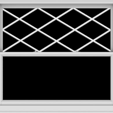 WDMA 60x54 (59.5 x 53.5 inch)  Aluminum Single Double Hung Window with Diamond Grids
