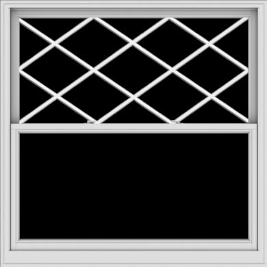 WDMA 60x60 (59.5 x 59.5 inch)  Aluminum Single Double Hung Window with Diamond Grids