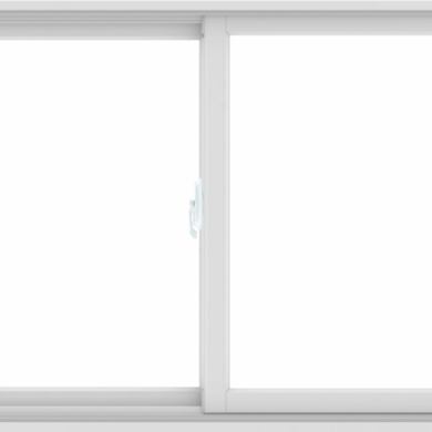 WDMA 60X36 (59.5 x 35.5 inch) White uPVC/Vinyl Sliding Window without Grids Interior