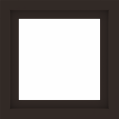 WDMA 24x24 (23.5 x 23.5 inch) Dark Bronze Aluminum Picture Window without Grids Interior