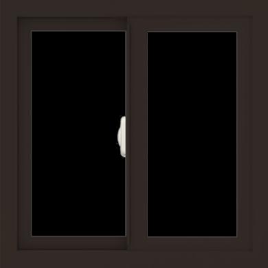 WDMA 24x24 (23.5 x 23.5 inch) Dark Bronze Aluminum Slide Window without Grids Interior