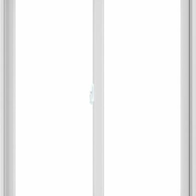 WDMA 48X60 (47.5 x 59.5 inch) White uPVC/Vinyl Sliding Window without Grids Interior