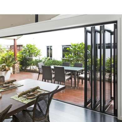 WDMA 10 Years Warranty Soundproof Plexiglass Pella Folding Doors