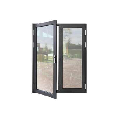 WDMA Acoustic House Aluminium Framed Double Swing Glass Door For From Guangzhou