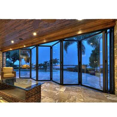 WDMA Aluminium 5 Panel Folding Door 3.5m By 2.4 Bi-folding Glass Doors
