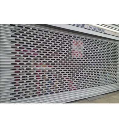 WDMA Aluminium Alloy Carport Roller Shutter Door Remote Control Perforated Roller Shutter Door