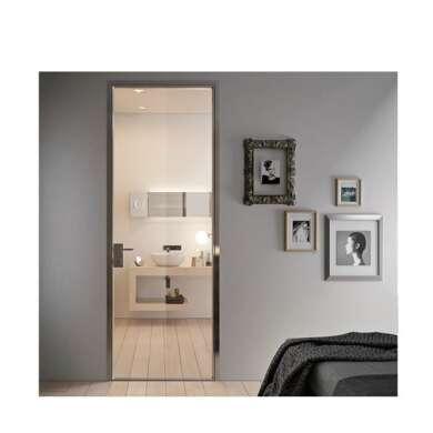 WDMA Aluminium Alloy Frosted Glass Door Interior Opaque Glass Glass Bathroom Door