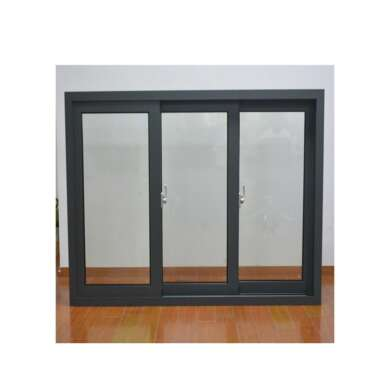 WDMA Aluminium Brown Color Three Triple Panel Sliding Window