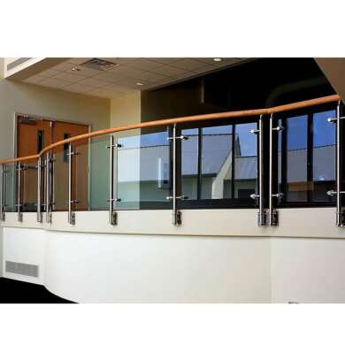 WDMA Aluminium Galvanized Stainless Steel Indoor Staircase Pipe Balcony Handrail Stair Railing Balustrade System