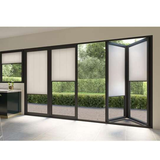 China WDMA Aluminium Glass Folding Windows And Bifolding Doors