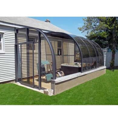 WDMA Aluminium Glass Sunrooms Glass Houses With Retractable Roof For Sale