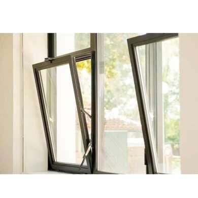 WDMA Aluminium Hinge Bottom Hinged Window White Powder Coating
