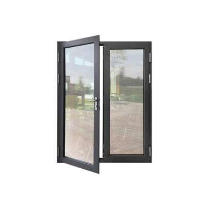 WDMA Aluminium Metal Double Leaf Glass Iron Door For External In Balcony Price