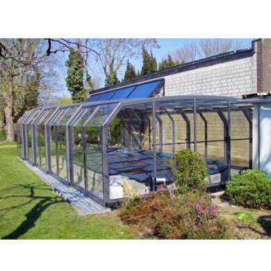 WDMA Aluminium Retractable Swimming Pool Covers Retractable Swimming High Pool Enclosures
