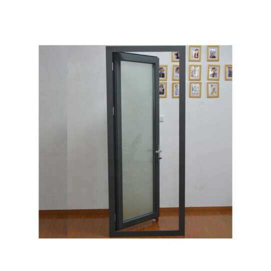 WDMA Aluminium Slide Single Swing Door With Frosted Glass Price For Balcony