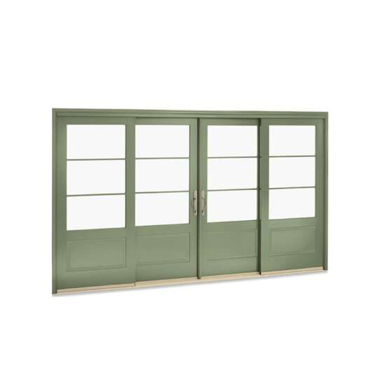 China WDMA Aluminum And Solid Teak Wood Composite Sliding Wall Partition Door System Price
