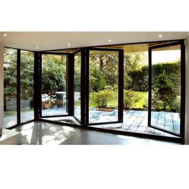WDMA Aluminum Bifolding Door For Big View With Retractable Screen